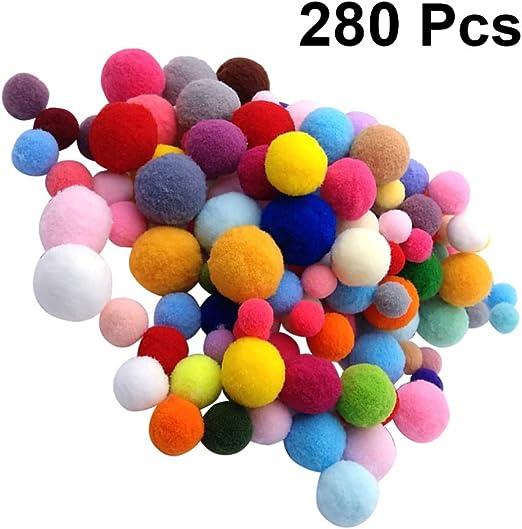 NUOBESTY Mini pom pom diy bola de felpa pelotas de pompón borrosas ...