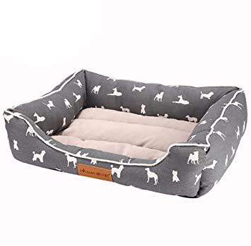 CHENYAJUAN Camas para Perros Pet Sofás Productos Casa para Gatos Perros Mat Cama Sofá Suave De Algodón Gris Esteras Perro Perros Accesorios,S: Amazon.es: ...