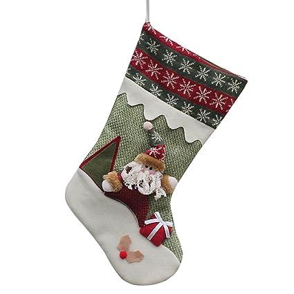 alxcio 1 pc personalizado de Navidad regalos patrón de Papá Noel Muñeco de nieve Reno Adorno
