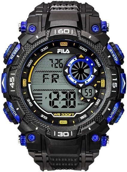 Fila Reloj Digital para Unisex Adultos de Cuarzo con Correa en PU FILA38-826-001