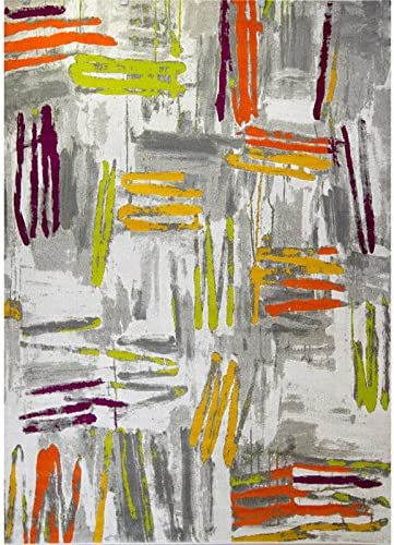 Home Dynamix 4721-999 Tanja Marley Modern Area Rug 3 11 x5 2 , Abstract Gray Green Purple