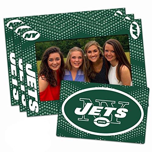 Worthy Promotional NFL New York Jets Magnetic Frame & Bonus Magnet, 3 Pack, Blue, 4