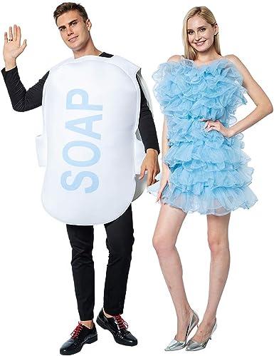 ReneeCho Disfraz de lufa y jabón para Adultos, 2 Piezas, Disfraces ...