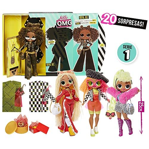 61RUvr1l ZL. SS500 Omg fashion dolls son las hermanas mayores que tanto admiran las l.o.l surprise Descubre los 4 modelos y las más de 20 sorpresas que tiene cada muñeca Con unos vestidos y accesorios que podrás compartir con tus amigas