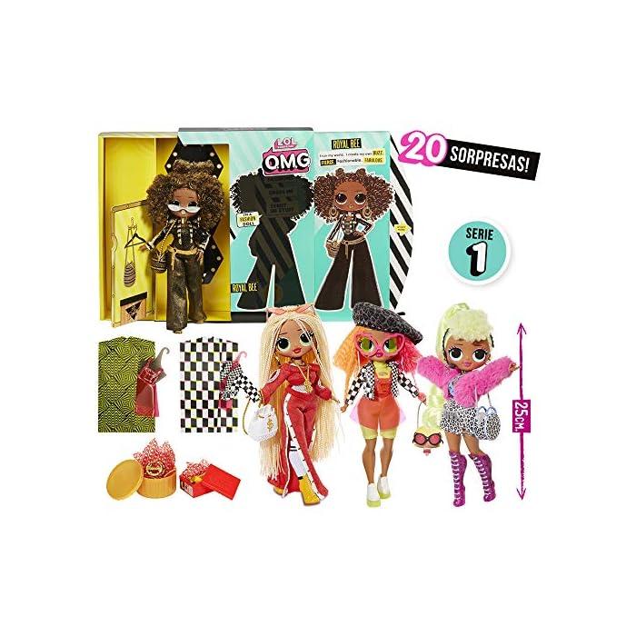 61RUvr1l ZL Omg fashion dolls son las hermanas mayores que tanto admiran las l.o.l surprise Descubre los 4 modelos y las más de 20 sorpresas que tiene cada muñeca Con unos vestidos y accesorios que podrás compartir con tus amigas
