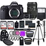 Canon EOS 6D 20.2 MP Full-Frame CMOS Digital SLR Camera with Canon EF 50mm f/1.8 STM Lens + Tamron 70-300mm f/4-5.6 AF Lens + Accessory Bundle For Sale