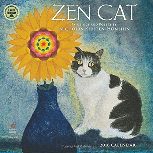 Buddha Cat (Zen Cat 2018 Wall Calendar: Paintings and Poetry by Nicholas Kirsten-Honshin)