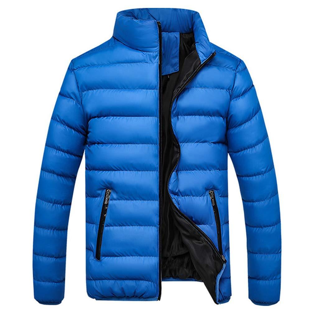 FRAUIT Piumino Uomo Leggero Cappotto Invernale Elegante Addensare Caldo di Inverno Manica Lunga Incappucciato Autunno Zip Giacca Lungo Parka Outwear Tops
