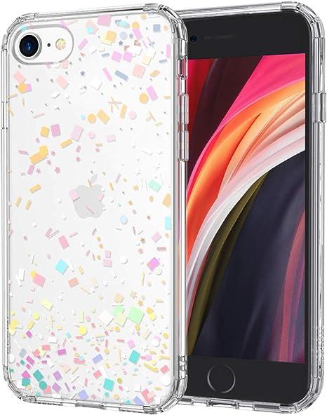 MOSNOVO Cover iPhone SE 2020/iPhone 8/iPhone 7,Confetti Trasparente con Disegni TPU Bumper con Protettiva Custodia Posteriore per iPhone 7/iPhone ...