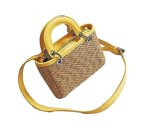 09b0f7bf09862 YOUJIA Bolsos totes de paja Shoppers Bolsos de hombro Bolso de Playa Grande para  Mujeres (