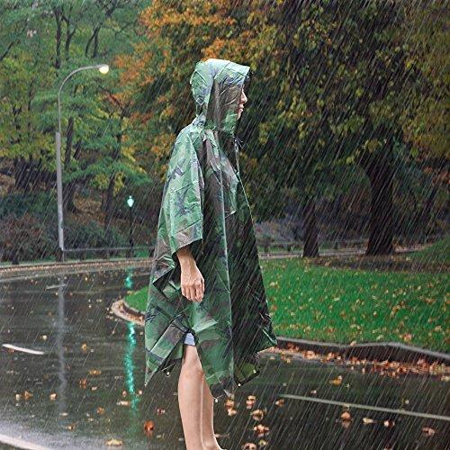 Kany Regenjacken Regenponcho wasserdicht regenmantel für die Jagd Camping, Multifunktions Military Notfall Regen Poncho, Freizeit Regenmantel, Camouflage Rain Poncho