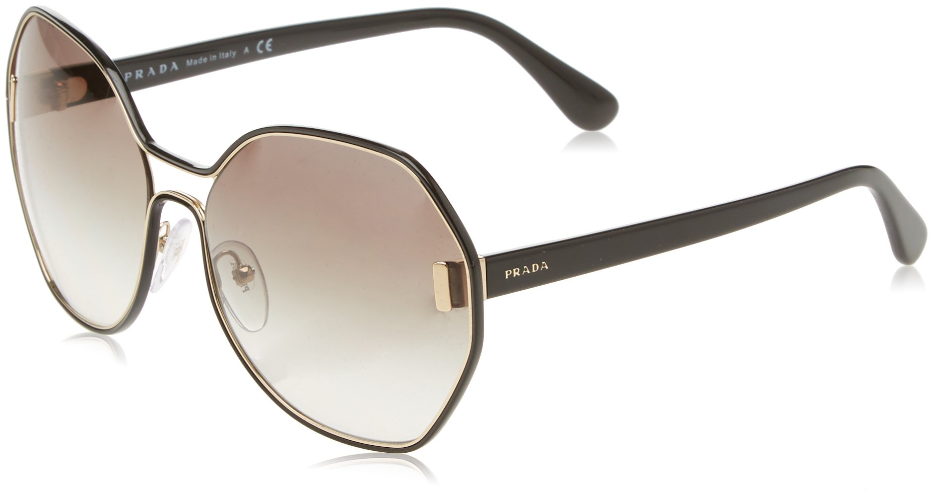 Prada Women's 0PR 53TS Pale Gold/Black/Grey Gradient Sunglasses