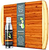 EXTRA LARGE Organic Bamboo Chopping Board and Butcher Block Oil...