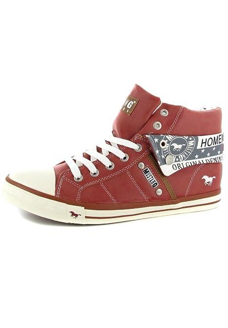 Mustang - Zapatillas Altas para Mujer, Color Rojo, Talla 44: Amazon.es: Zapatos y complementos