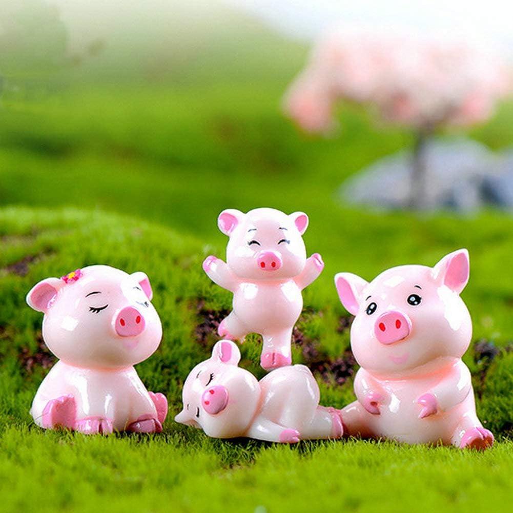 "Miniature Dollhouse FAIRY GARDEN Figurine ~ 2/"" PIG Professions CONSTRUCTION"