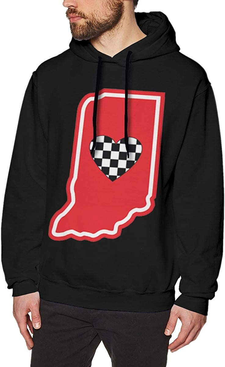 Marsherun Mens Sweatshirts Love Maine State-1 Pullover Fleece Hoodie