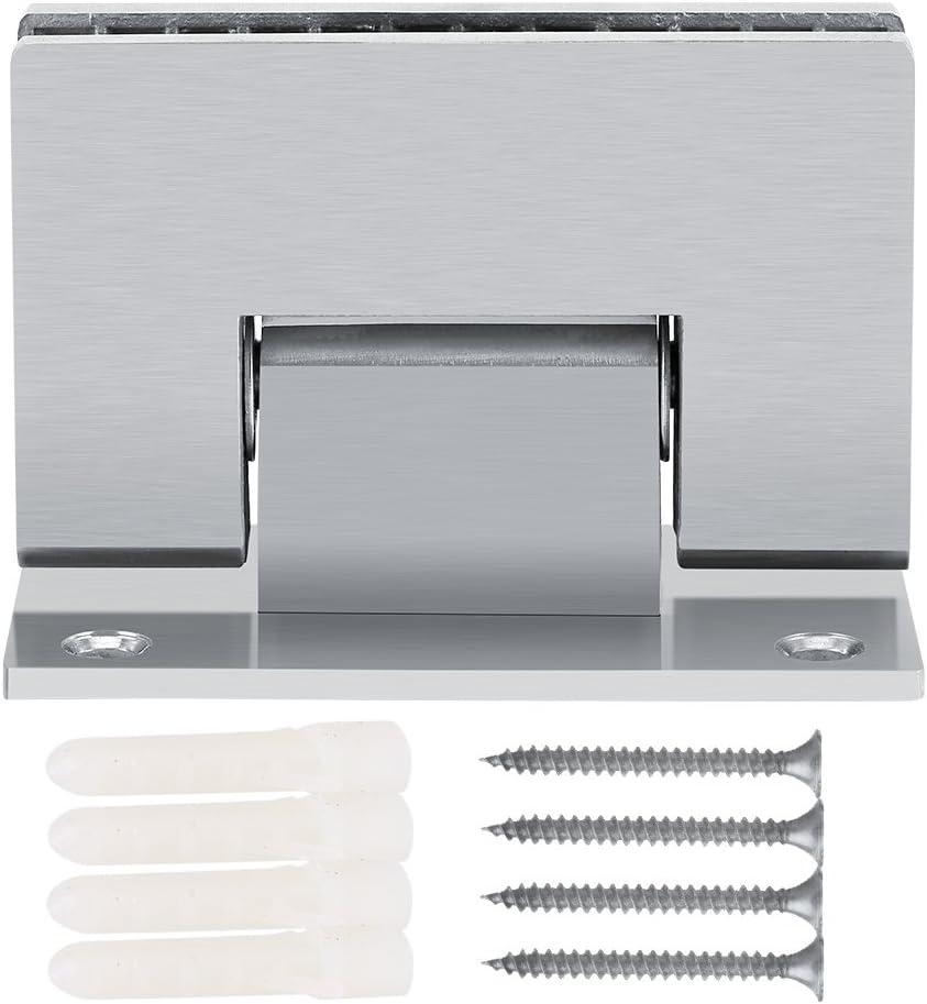 FTVOGUE Bisagra puerta cristal 90º soporte de pared sin marco clip ducha cristal real 8-10mm
