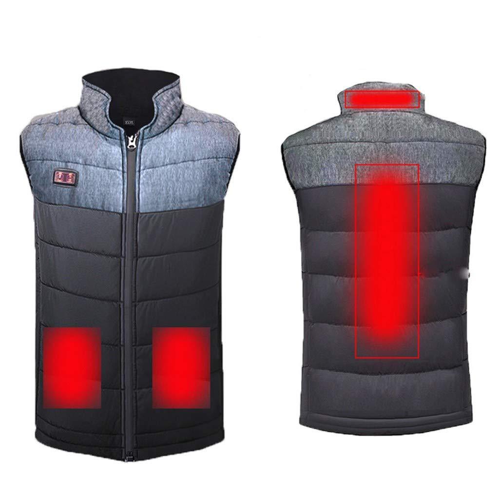 FONMA Winter Unisex Adjustmen USB Electric Heating Suit Warm Down Sleeveless Vest