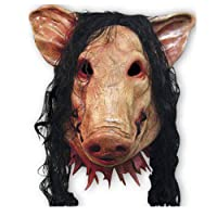 Uus Maschera Testa di Maiale di Halloween, Maschera di Testa di Maiale in Maschera di Travestimento Maschera di Testa di Maiale in Lattice (taglia unica)