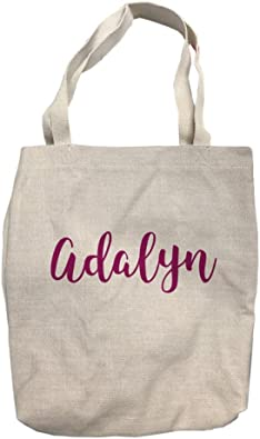 Custom Colors and Fonts FREE SHIPPING Personalized Canvas Tote Bag with your Monogram