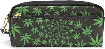 Ahomy Estuche Verde Marihuana Hoja Grande Capacit Estudiante Bolígrafo Bolsa Cartera Cosmético Maquillaje Bolsa para Mujer: Amazon.es: Oficina y papelería