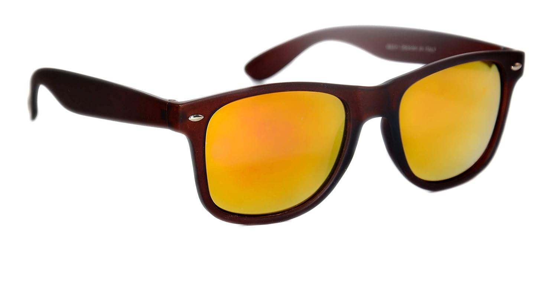 0ef9affbc9e TheWhoop Combo UV Protected New Trendy Stylish Mirror Green And Orange  Goggle Wayfarer Unisex Sunglasses For Men