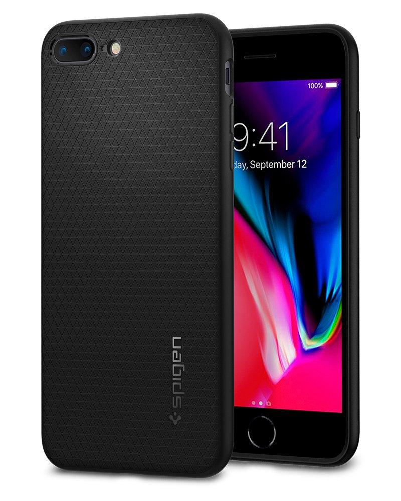 official photos f27d8 8ae70 Spigen Liquid Air Armor Designed for Apple iPhone 8 Plus Case (2017) /  Designed for iPhone 7 Plus Case (2016) - Black
