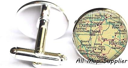 University of Wisconsin Map Cufflinks