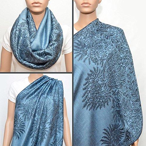 Breastfeeding Cover, Nursing Cover, Nursing Scarf, Infinity Scarf ( Ice Blue)