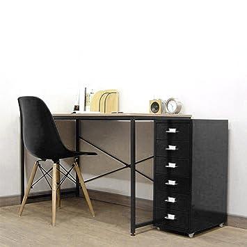 natamo Romovable 6- cajón vertical archivadores con rueda metal Armario, color negro
