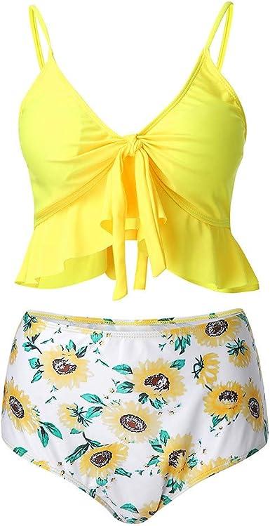 Traje de Baño Sin De Hombro Sexy Conjunto de Bikini de Mujer Verano bañadores Mujer 2019 Deportivos brasileño Push-up de Playa Mono Mujer Bañador con Aberturas Mujer Vestido Disfraz de Sirena Traje: