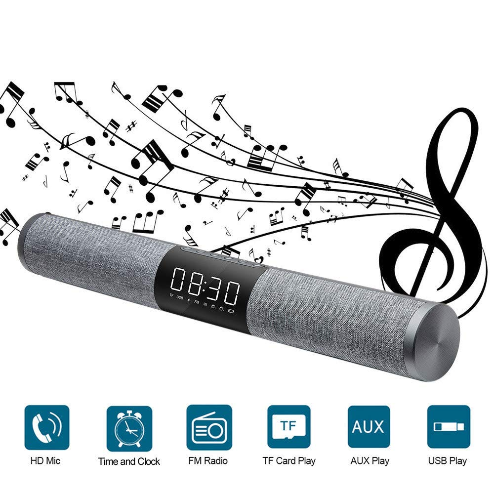 QTMY Surround Sound Loud TV Speakers Sound Bar Soundbar,Wireless Bluetooth Audio Stereo Desktop Speakers