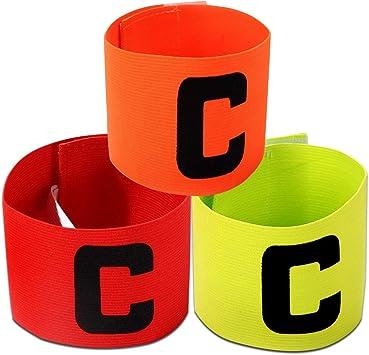 ADESUGATA fútbol Capitán brazalete, brazaletes elástica de fútbol para niños,Velcro para tamaño ajustable, apto para varios deportes como el fútbol y Rugby Etc (3): Amazon.es: Deportes y aire libre
