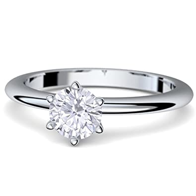 Compromiso anillos con cristales de Swarovski piedra + * caja de lujo & grabado!* Anillo de compromiso matrimonio ...