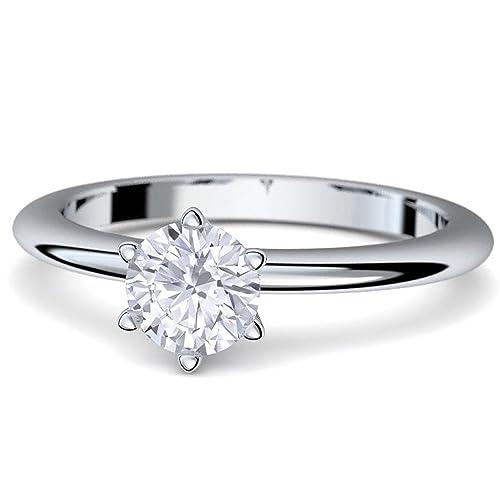 Compromiso anillos con cristales de Swarovski piedra + * caja de lujo & grabado!*