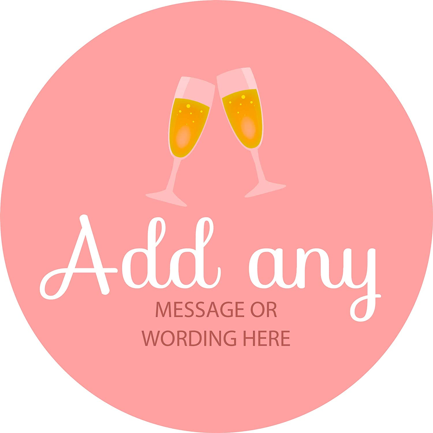 Hen Party Champagne Sticker Labels Personalised Custom Seals Ideal for Party Bags Sweet Cones Favours Jars Presentations Gift Boxes Bottles Crafts