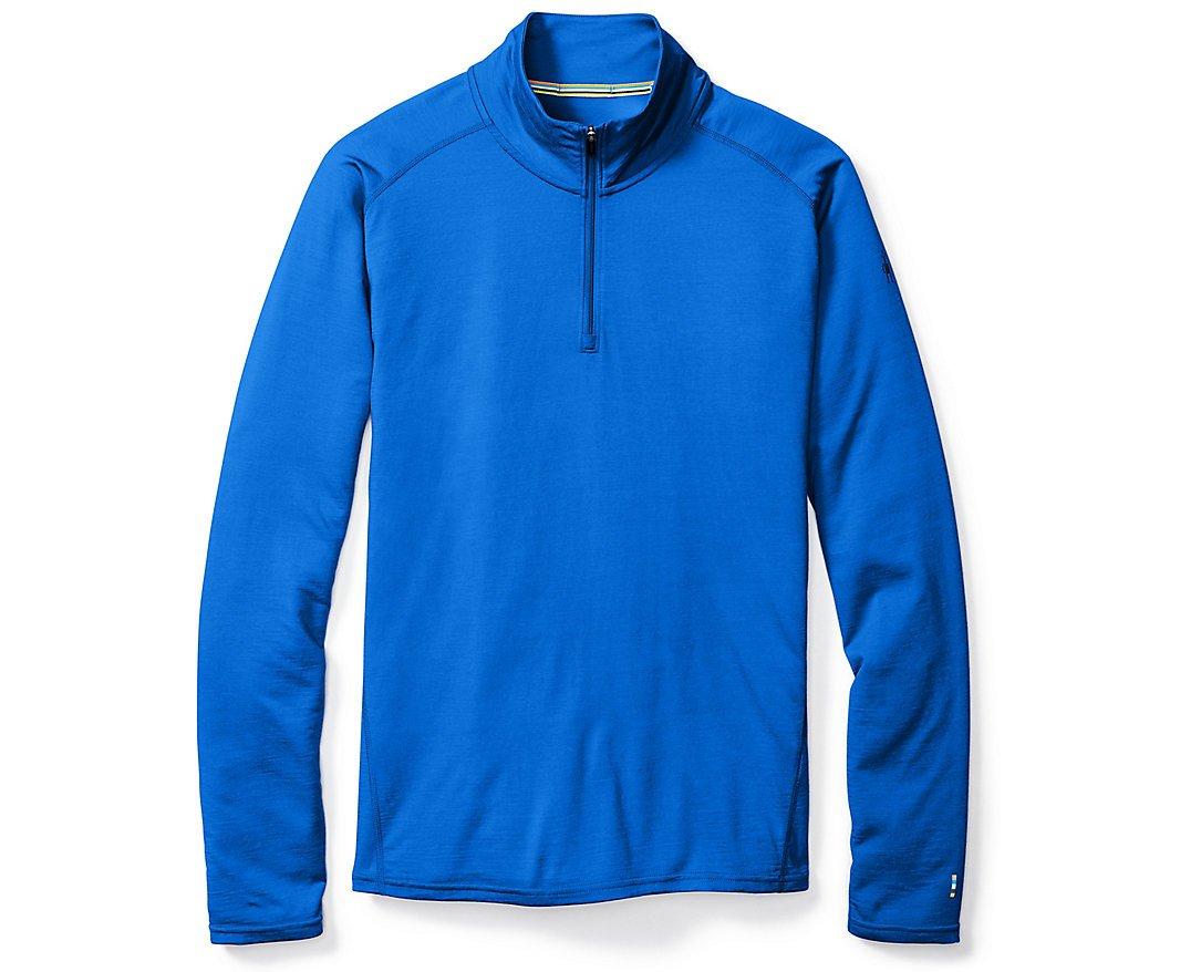 SmartWool Men's Merino 150 Baselayer 1/4 Zip (Bright Blue) Small