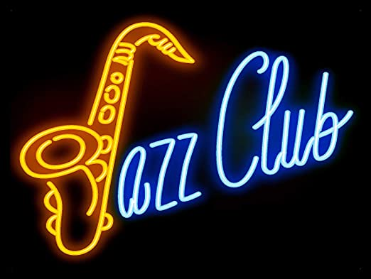 KELLEN WHITEHEAD Jazz Club Neon Printed Metal Tin Wall Sign ...