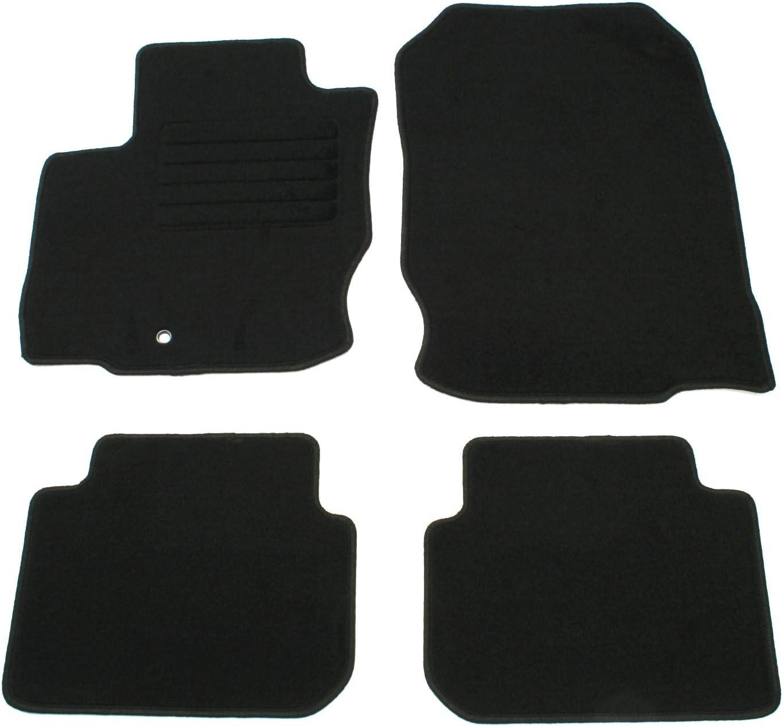 Ad Tuning Gmbh Hg11358 Velours Passform Fußmatten Set Schwarz Autoteppiche Teppiche Carpet Floor Mats Auto