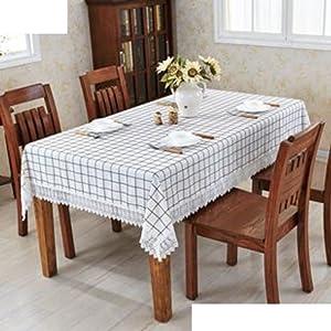Clean cotton and linen fabrics/European garden Plaid tablecloth/ table cloth/ small circular table cloth/ table cloth-C 150x150cm(59x59inch)
