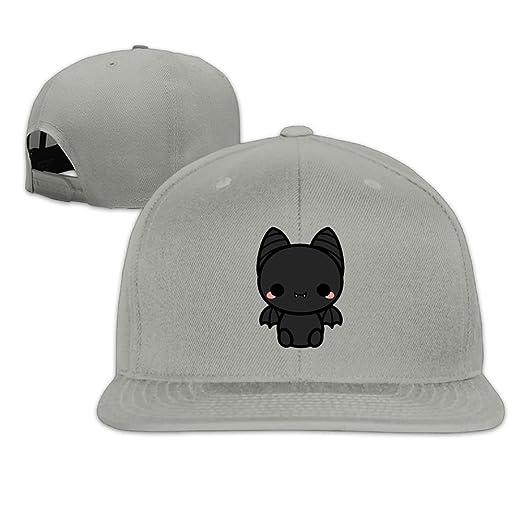 0fc29e41d1cf9 Amazon.com  Quzim Plain Logo Baseball Cap Polo Safari Dad Hat Cute Spooky  Bat  Clothing