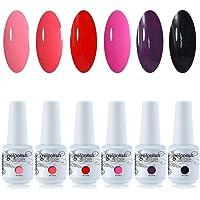 Vishine 6Pcs Soak Off LED UV Gel Nail Polish Varnish Nail Art Starter Kit Beauty Manicure Collection Set