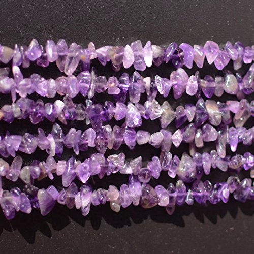 Genuine Purple Amethyst Crystal and Gemstone Irregular Chips Beads for Women Necklace Bracelet Earrings Jewelry Making One Strand 31 Inch