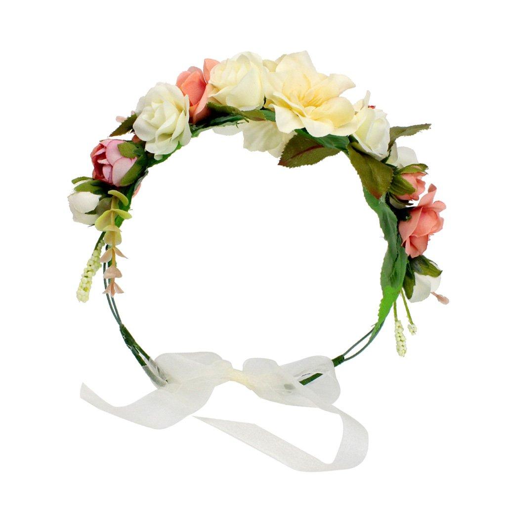 Dovewill Boho Floral Crown Headband Hair Garland Wedding Bride Bridesmaid Headpiece
