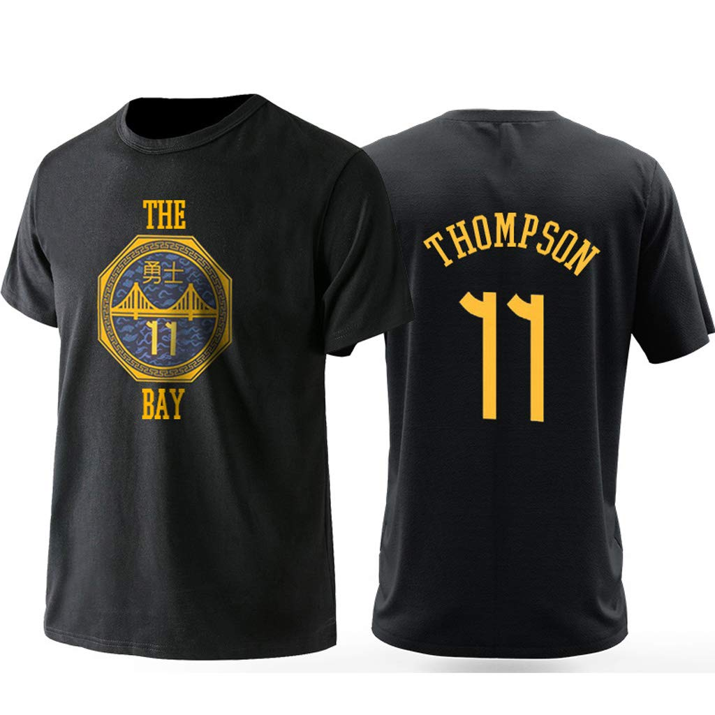 Golden State Warriors Stephen Curry #30 City T shirt Giovent/ù Uomo Name /& Number Durant Magliette Sportive da Basket Moda Tee Tops