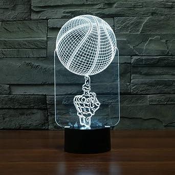 Lámpara de color wangZJ 7 / Luces nocturnas LED visuales 3D / Usb ...