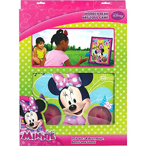 Amscan Funtastic Disney Minnie Mouse Bean Bag Toss Combo Birthday Party Game Set, Multi