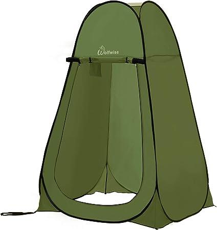WolfWise Acampar Tienda de Ducha Camping Desplegable Pop Up Tienda de Campaña Portátil para Privacidad al Aire Libre Vestuario