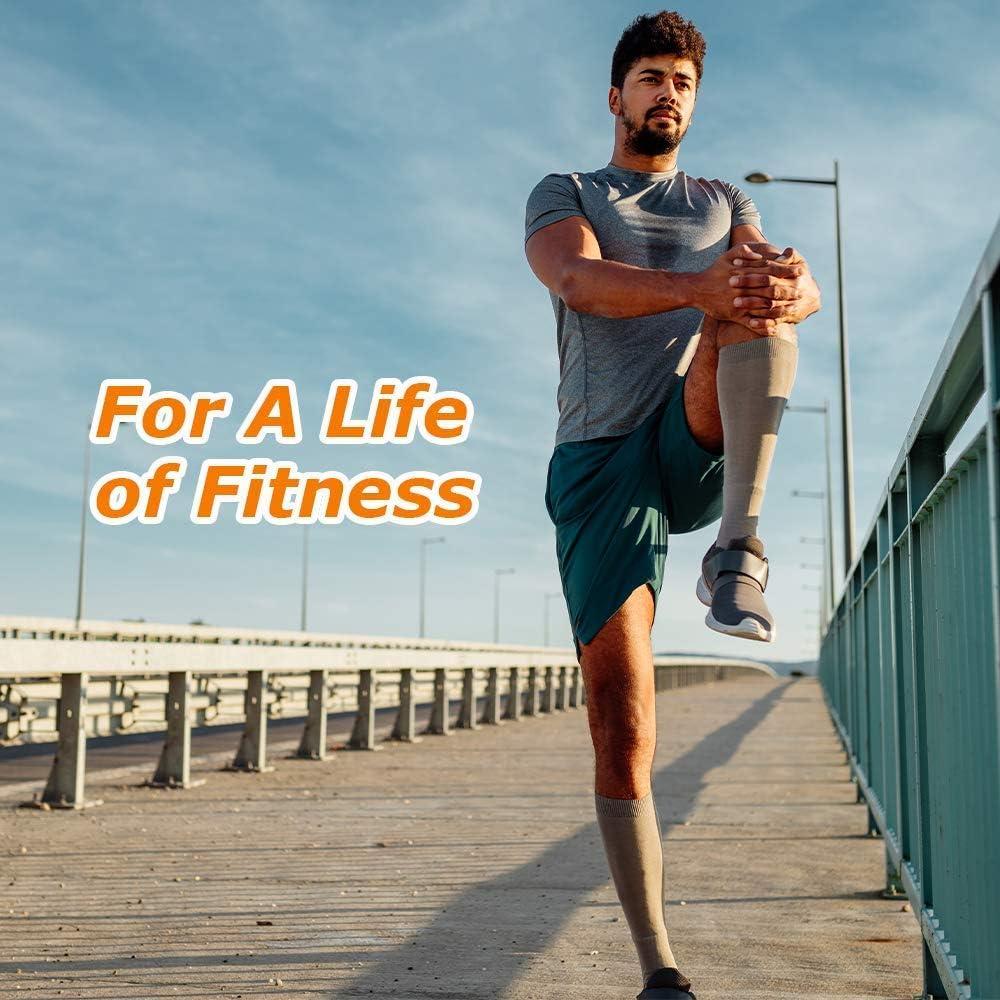Trekking Viaggio in Aereo Calze Contenitive ottime per Sport Running CAMBIVO Calze a Compressione Graduata Donna e Uomo 2 Paia