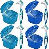 4st Förvaringslåda för tandprotes ortodontisk/Tandborste för tandproteser, Proteser bärbar förvaringslåda för tandvård…